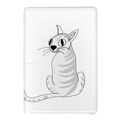 White Cat  Samsung Galaxy Tab Pro 10 1 Hardshell Case by Valentinaart