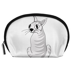 White Cat  Accessory Pouches (large)  by Valentinaart