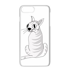 White Cat  Apple Iphone 7 Plus White Seamless Case