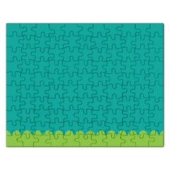 Green Blue Rectangular Jigsaw Puzzl by AnjaniArt