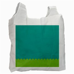 Green Blue Recycle Bag (one Side) by AnjaniArt