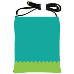 Green Blue Shoulder Sling Bags