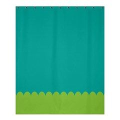 Green Blue Shower Curtain 60  X 72  (medium)  by AnjaniArt
