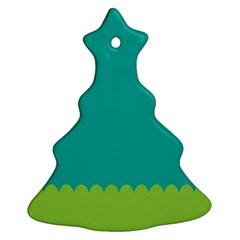 Green Blue Christmas Tree Ornament (2 Sides)