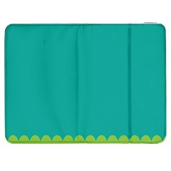 Green Blue Samsung Galaxy Tab 7  P1000 Flip Case