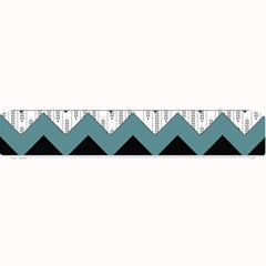Green Black Pattern Chevron Small Bar Mats