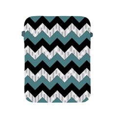 Green Black Pattern Chevron Apple Ipad 2/3/4 Protective Soft Cases by AnjaniArt