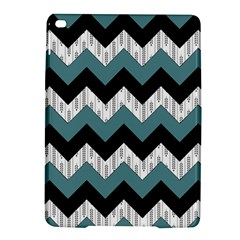 Green Black Pattern Chevron Ipad Air 2 Hardshell Cases by AnjaniArt