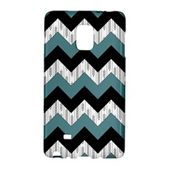 Green Black Pattern Chevron Galaxy Note Edge by AnjaniArt