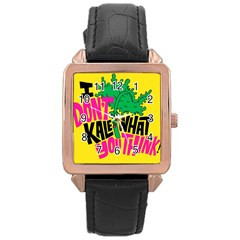 Idont Kale Think Rose Gold Leather Watch