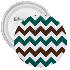Green Chevron 3  Buttons by AnjaniArt