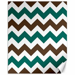 Green Chevron Canvas 16  X 20   by AnjaniArt