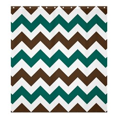 Green Chevron Shower Curtain 66  X 72  (large)