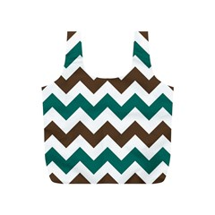Green Chevron Full Print Recycle Bags (s)