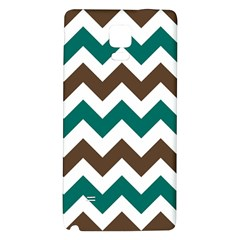 Green Chevron Galaxy Note 4 Back Case by AnjaniArt
