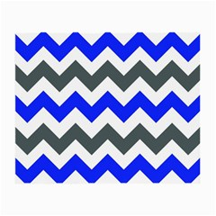 Grey And Blue Chevron Small Glasses Cloth (2 Side)