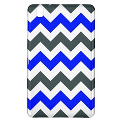 Grey And Blue Chevron Samsung Galaxy Tab Pro 8 4 Hardshell Case