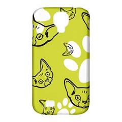 Face Cat Green Samsung Galaxy S4 Classic Hardshell Case (pc+silicone)