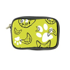 Face Cat Green Coin Purse by AnjaniArt