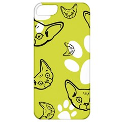 Face Cat Green Apple Iphone 5 Classic Hardshell Case