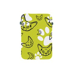 Face Cat Green Apple Ipad Mini Protective Soft Cases