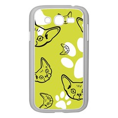 Face Cat Green Samsung Galaxy Grand Duos I9082 Case (white) by AnjaniArt