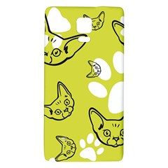 Face Cat Green Galaxy Note 4 Back Case by AnjaniArt