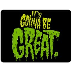 Its Gonna Be Great Double Sided Fleece Blanket (large)