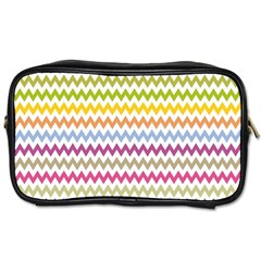 Color Full Chevron Toiletries Bags 2 Side by AnjaniArt