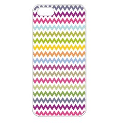 Color Full Chevron Apple Iphone 5 Seamless Case (white)