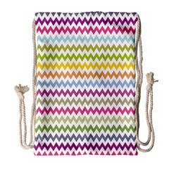 Color Full Chevron Drawstring Bag (large) by AnjaniArt