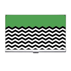 Lime Green Chevron Business Card Holders