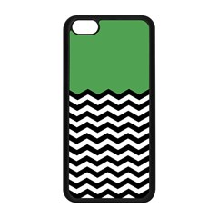 Lime Green Chevron Apple Iphone 5c Seamless Case (black) by AnjaniArt