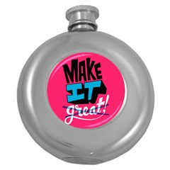 Make It Round Hip Flask (5 Oz) by AnjaniArt