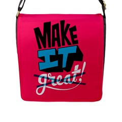 Make It Flap Messenger Bag (l)  by AnjaniArt