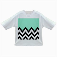 Mint Green Chevron Infant/toddler T Shirts
