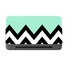 Mint Green Chevron Memory Card Reader With Cf