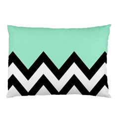Mint Green Chevron Pillow Case (two Sides) by AnjaniArt