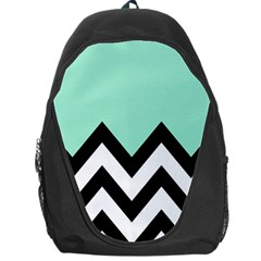 Mint Green Chevron Backpack Bag