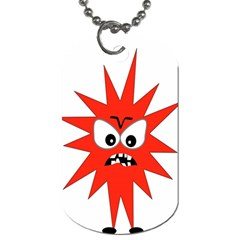 Monster Angry Dog Tag (one Side)