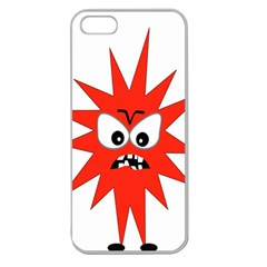 Monster Angry Apple Seamless Iphone 5 Case (clear)