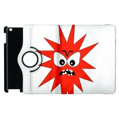 Monster Angry Apple Ipad 3/4 Flip 360 Case