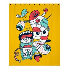 Monster Animals Shower Curtain 60  X 72  (medium)
