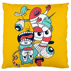 Monster Animals Large Cushion Case (one Side)