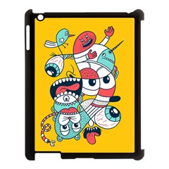 Monster Animals Apple Ipad 3/4 Case (black)