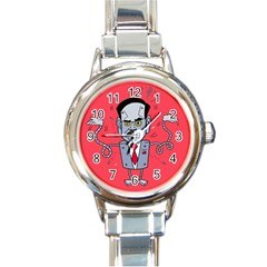 Monster Rubiobot Round Italian Charm Watch by AnjaniArt