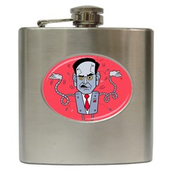 Monster Rubiobot Hip Flask (6 Oz) by AnjaniArt