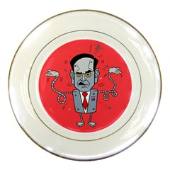 Monster Rubiobot Porcelain Plates by AnjaniArt