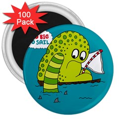 Monster Sea Too Big To Sail 3  Magnets (100 Pack)