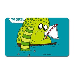 Monster Sea Too Big To Sail Magnet (rectangular) by AnjaniArt